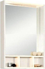 Мебель для ванной комнаты Акватон Зеркало-шкаф Йорк 60 (белый/выбеленное дерево)