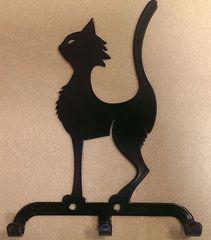 Полкодержатель, крючок Отис-сервис Крючок декоративный Кот (черный)
