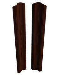 Забор Забор Скайпрофиль Штакетник M-96 одностороннее покрытие Пэ глянцевый RAL8017