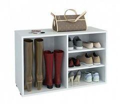 Тумба для обуви Мебельная Фабрика Мастер Лана-2 ПОЛ-2 (1С+1П) белый