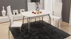 Обеденный стол Обеденный стол ТриЯ Ницца раздвижной с хромированными ножками
