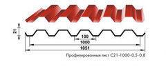Профнастил Профнастил Вертрагия C-21