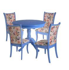 Обеденный стол Обеденный стол Red&Black Круглый (Лаванда/массив березы, Шпон)