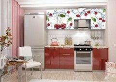 Кухня Кухня Интерьер-Центр Олива 2.1м фотопечать вишня