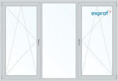 Балконная рама Балконная рама Exprof 2450*1450 2К-СП, 5К-П, П/О+Г+П/О