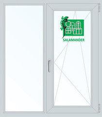 Окно ПВХ Окно ПВХ Salamander 1100*1310 2К-СП, 5К-П, Г+П/О