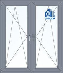 Алюминиевое окно Татпроф 1400*1600 ПО+ПО