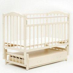 Детская кровать Кроватка Bambini Модель 2 (слоновая кость)