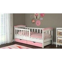 Детская кровать Детская кровать BabyDream Classic Конфетти бело-розовый