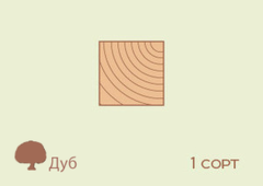Брусок Брусок Дуб 60*60, 1 сорт