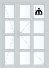 Дверь ПВХ Дверь ПВХ Brugmann STL 1350*2100 двустворчатая Модель 132