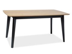 Обеденный стол Обеденный стол Signal Macan 160 (дуб/черный)