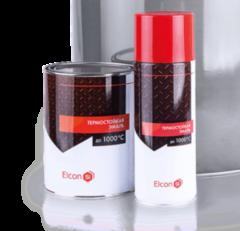 Эмаль Эмаль Elcon Термостойкая 0,8 кг (черная)