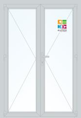 Алюминиевая дверь Alutech ALT C48 1400x2100 2К-СП, 1К-П Двухстворчатая