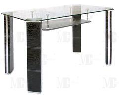 Обеденный стол Обеденный стол Metsteklo GT309 черный крокодил