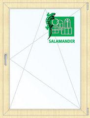 Окно ПВХ Окно ПВХ Salamander 800*1100 2К-СП, 5К-П, П/О ламинированное (светлое дерево)