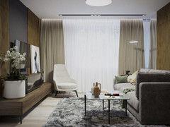 Дизайн гостиной PuzzleHome Вариант 20