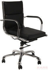 Офисное кресло Офисное кресло Kare Office Chair Relax Leather Black 73874