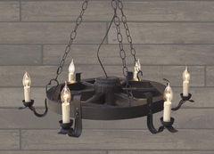 Светильник Светильник Stdlight из колеса от телеги на 6 ламп 149 свеча
