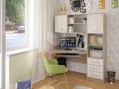 Письменный стол Интерлиния СК-011 Дуб сонома+Дуб белый