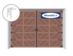 DoorHan RSD02 Premium Country 3600x2250 секционные, с ковкой крест., авт.