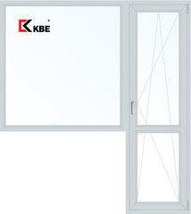 Окно ПВХ Окно ПВХ KBE 1980*2150 2К-СП, 5К-П, Г+П/О