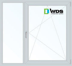 Окно ПВХ Окно ПВХ WDS 1460*1400 2К-СП, 5К-П, Г+П/О