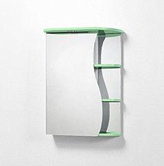Зеленая мебель для ванной Акваль Зеркало Милана зеленый 50 см (L)