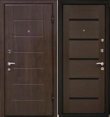 Входная дверь Входная дверь МеталЮр М7 (венге мелинга, чёрное стекло)