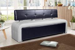 Кухонный уголок, диван ДвериДом Кухонный диван Оскар-2 (серо-черный)