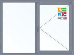 Алюминиевое окно Alutech 2000*1500 Г+П