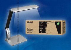 Настольный светильник Uniel TLD-503 Silver/LED/546Lm/5000K/Dimer/USB