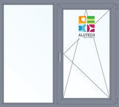 Алюминиевое окно Alutech W62 1000*1300 2К-СП Г+П/О