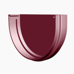 Водосточная система Docke Standard Заглушка желоба (гранат)