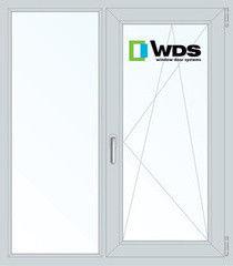 Окно ПВХ Окно ПВХ WDS 1100*1310 2К-СП, 5К-П, Г+П/О