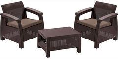 Комплект мебели из ротанга Keter Corfu Weekend set коричневый