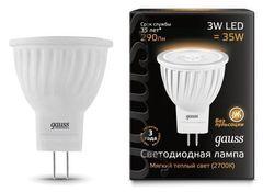 Лампа Лампа Gauss 132517103, GU4, MR11, 3Вт