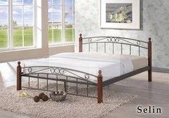 Кровать Кованая кровать Red&Black Селин 160х200 (темный орех)