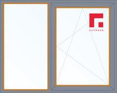Дерево-алюминиевое окно Gutmann Лиственница 1460*1400, 1с, Г+П/О