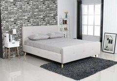 Кровать Кровать Atreve Emily 1 (бархат/светло-серый)