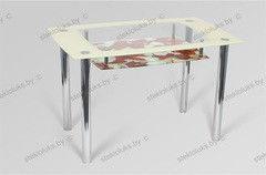 Обеденный стол Обеденный стол Стеклолюкс С 28-06 Розы-1