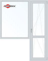 Окно ПВХ Окно ПВХ Brusbox 1440*2160 2К-СП, 3К-П, Г+П/О