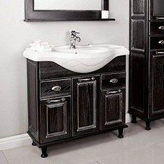 Мебель для ванной комнаты Акватон Тумба-умывальник  Жерона 85 (1A158501GEM50) черное серебро