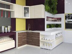 Кухня Кухня Артем-мебель Жасмин слива/ваниль глянец