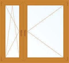 Деревянное окно Лиственница 1460*1400, 1с, П/О+П
