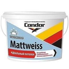Краска Краска Condor Mattweiss 15л