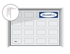 DoorHan RSD02 3800x2500 секционные, филенка, авт.