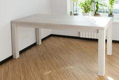 Обеденный стол Обеденный стол Драўляная майстэрня из массива дуба цвет Super White ОС01