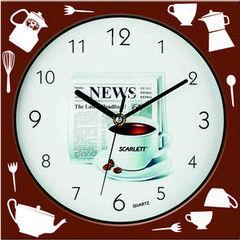 Часы Часы Scarlett Настенные часы Scarlett SC-WC1001K