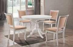 Обеденный стол Обеденный стол Avanti Classic Capri White (4 стула)